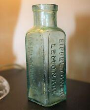 Victorian Eiffel Tower Lemonade Glass Bottle Foster Clark Ltd. Maidstone 11 cm