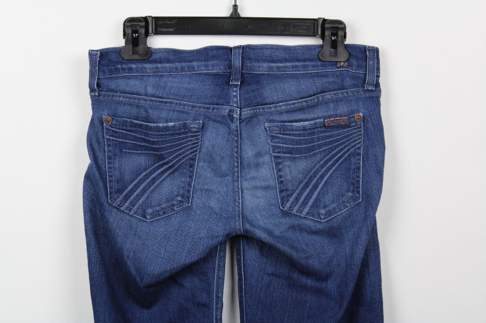 7 For All Mankind Womens Dojo Jeans 25 Dark Wash Flare Leg Stretch  J1