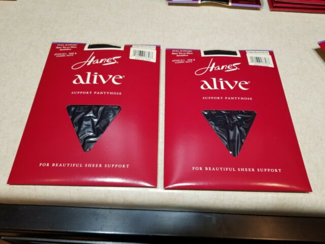 9c2ece3aae4 New 2 Pairs Hanes Alive Full Support Pantyhose Style 811 Size B Classic Navy