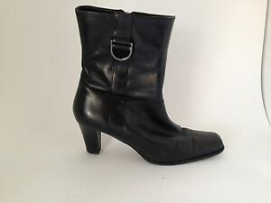 Closeout-Etienne-Aigner-Black-Leather-Mid-Calf-Woodrow-Boot-Shoe-7