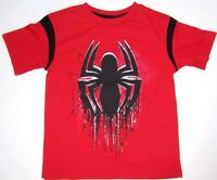 Marvel Ultimate Spider-man Short Sleeve Boys T Shirt Sizes 4, 5/6 Or 7 Red
