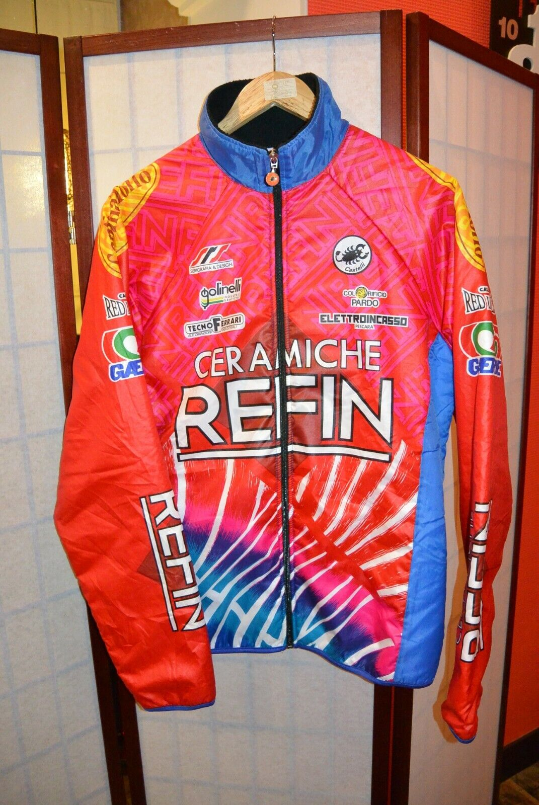 Castelli NATIONAL Italia usura ORIGINALE Team Ciclismo in jersey Refin L  77