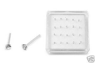 USA Seller Mini Nose Stud Set Sterling Silver 925 Best Jewelry 20pcs-Box 1.8mm
