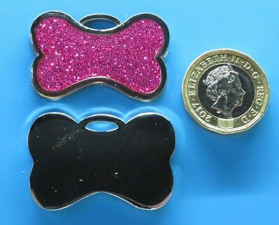 Expressions Engravers 25mm round glitter star pet//dog tag