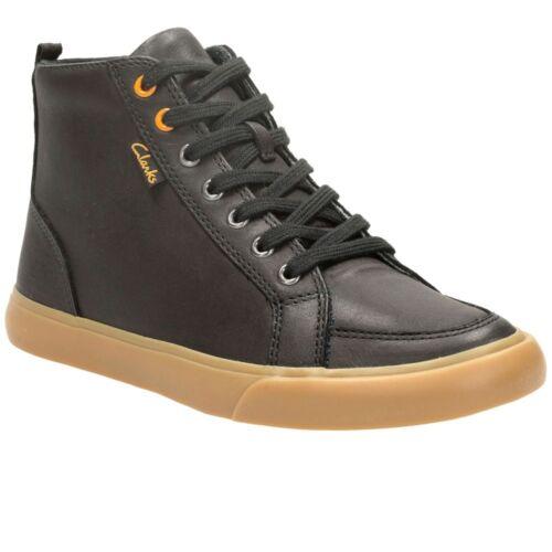 10 1//2G Clarks Club Jive Inf Black Boys Leather Boots Size UK 10 1//2F