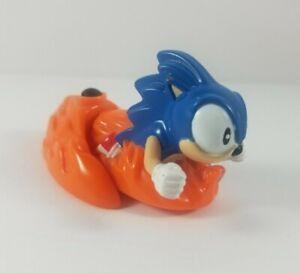 Vintage-Sega-Sonic-The-Hedgehog-1998-Firing-Toy-Figure-Blue-Hedgehog-Orange-Base