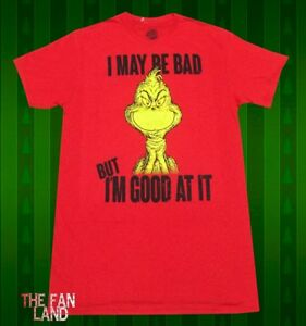 New Dr. Seuss How the Grinch Stole Christmas I may be Bad Mens ... 733aa6e29