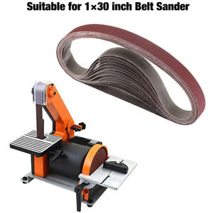 "1//2/"" x 18/"" Abrasive Sanding Belt 800-Grits Aluminum Oxide Sand Belts 15pcs"