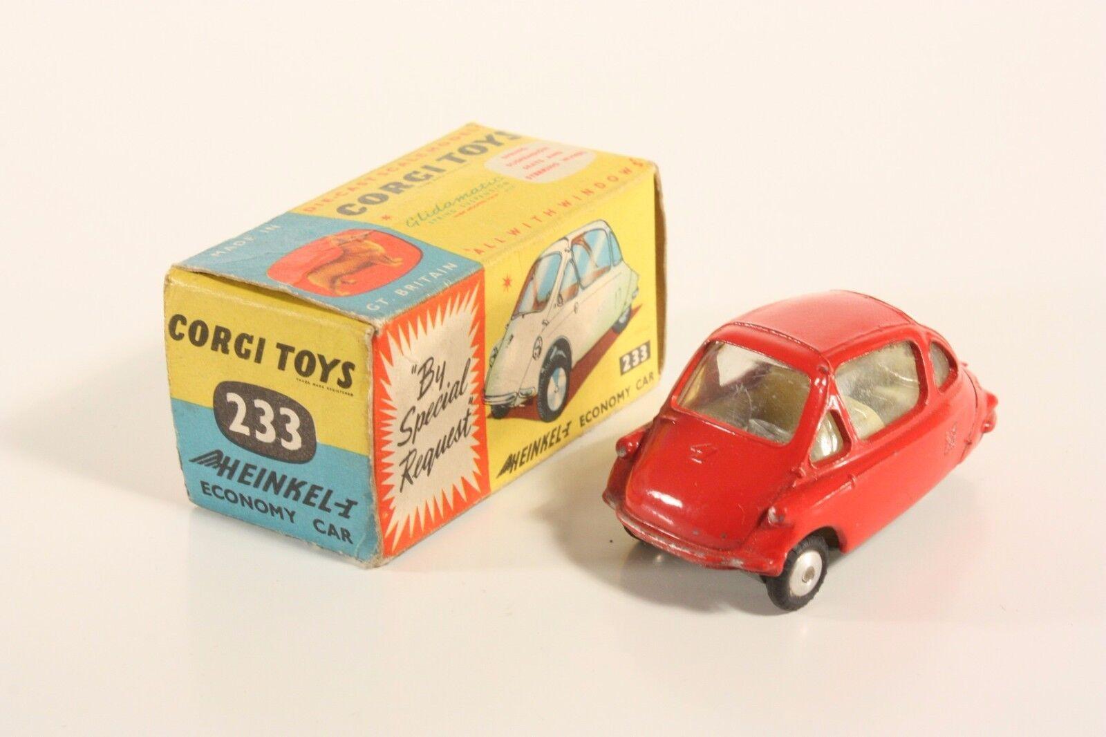 CORGI TOYS 233, HEINKEL ECONOMY CAR, Comme neuf in box  ab2083