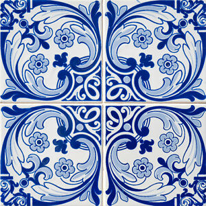 Image Is Loading Tiles Decals Set Of 24 Portuguese Tile