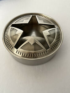 Marlboro-Texas-Lone-Star-Stainless-Steel-Ashtray-with-Lid-Brand-New