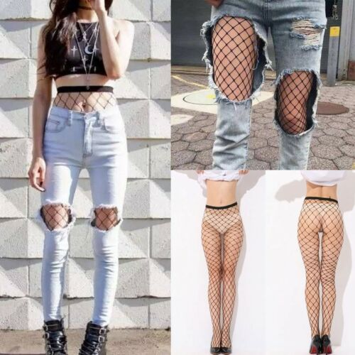 Women Ladies Black Mesh Fishnet Net Pattern Pantyhose Tights Stockings Sock