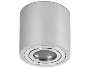 Spot Feuchtraum Aufbaustrahler Silber Ip44 Gu10 230v Bad Aufbau Strahler Massiv Ebay