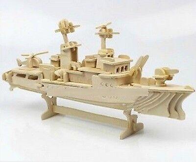 FD1945 DIY 3D Puzzle Woodcraft Construction Kit Wood Model Destroyer Ship
