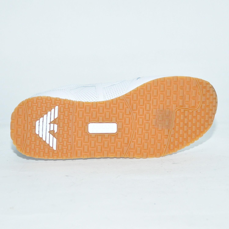 ARMANI JEANS JEANS JEANS Schuhe Sneaker LEDER LUXUS UVP198 - Gr. 41 - 45 7P423 Sommer 25207f