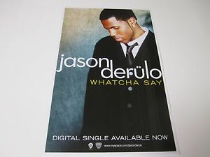 Details about Jason Derulo Whatcha Say Poster 2009 Promotional 11X17 NEW