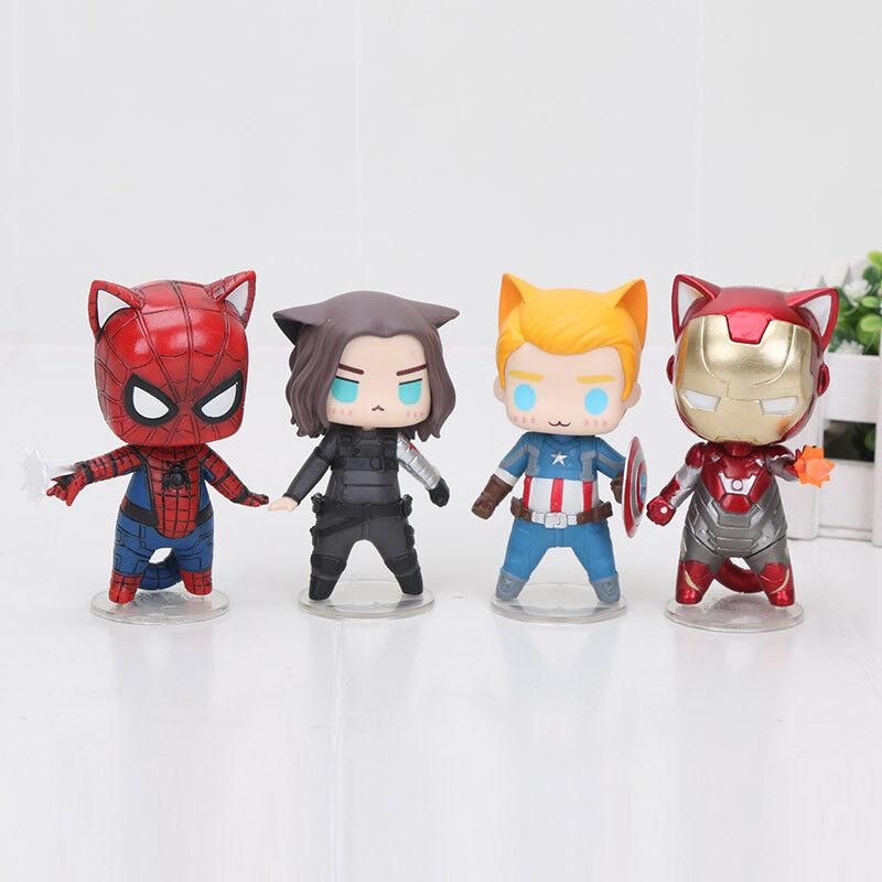 Avengers Cat figures Wirkung figurines MARVEL Superheroes CAT Version Spielzeug