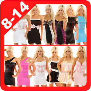 New-Ladies-Mini-Dress-Cocktail-Formal-Disco-Club-Event-Sexy-Bat-Wing-Sleeve-Sexy