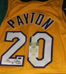 0136ed9e18b Image is loading GARY-PAYTON-Autographed-Los-Angeles-Lakers-signed- Basketball-