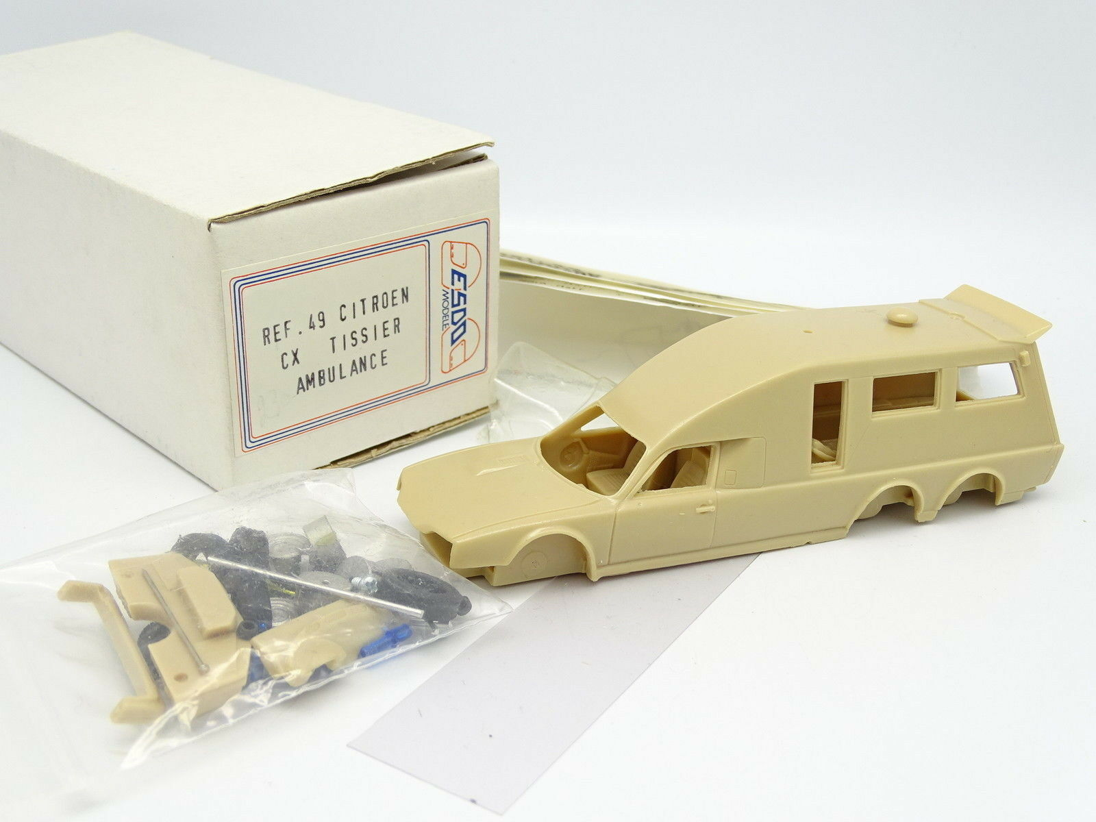 ESDO Kit à Monter Monter Monter 1/43 - Citroen CX Tissier Fourgon Ambulance 81a3ad