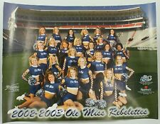 2002-2003 Ole Miss Rebelettes Signed Cheerleader Vintage Original Poster