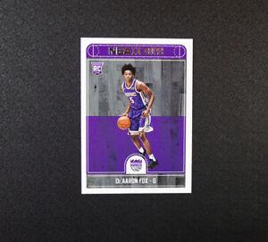 2017-18 Hoops De'Aaron Fox Rookie Card 255 Sacramento Kings RC