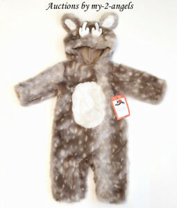 b37653168 NEW Pottery Barn Kids Halloween BABY DEER WOODLAND COSTUME 6-12 MO 6 ...