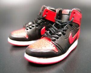 1/6 Nike Action Figure 3D Miniature Air Jordan 1 Retro Banned X ...