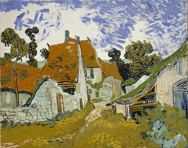 Vincent van Gogh - Street in Auvers-sur Painitng Canvas Print wall home Decor