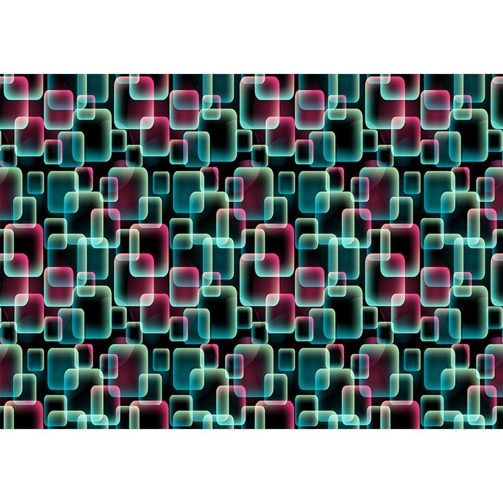 Nuevo Abstracto Retro Patrón de Cuadrados 3D Efecto Foto Mural Decoración Pared
