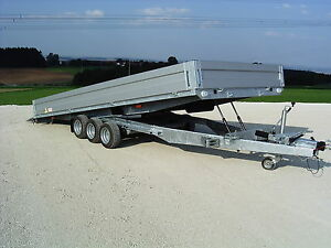 Universal Autotransporter 3500 kg 3- achsig, Agados Adam Schweizer kippbar