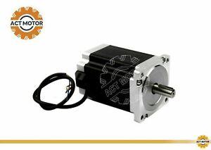 DE-Free-1PC-Nema34-Schrittmotor-126mm-12Nm-6A-14mm-Keyway-Bipolar-1700oz-in