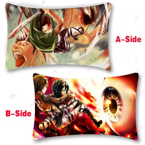 Anime Attack on Titan Cosplay Otaku Dakimakura Cushion Pillow Case 35*55cm #K75