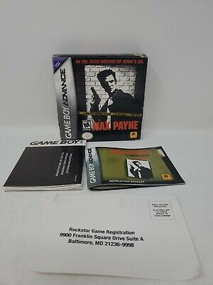Max Payne Nintendo Game Boy Advance 2003 Box And Instructions Only No Game Ebay