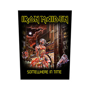 Iron Maiden Somewhere In Time 30x36x27cm Terug Patches