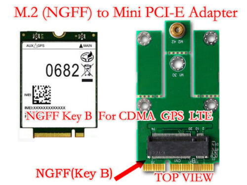 M.2 NGFF 2G//3G Module to mini PCI-E Adapter for CDMA GPS LTE Function