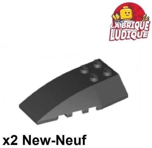 Lego Baukästen & Konstruktion 2x Wedge 6x4 gebogen Motorhaube Neigung schwarz/schwarz 43712 neu