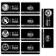 miniature 9 -  SCP Foundation Keycards sticker pass 10pcs PLASTIC CARD cosplay games gift
