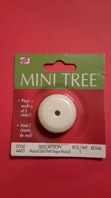 Westrim Beaded Mini Christmas Tree Medley of Christmas Songs Music Disc #4403
