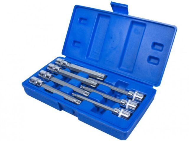 "7 Piece Extra Long Torx Socket Set 3/8"" Drive + CASE T25 T30 T40 T45 T50 T55 T60"