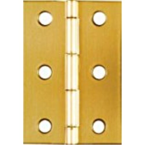 NATIONAL//SPECTRUM BRANDS HHI N211-391 2-1//2-Inch Brass Hinge 2-Pack