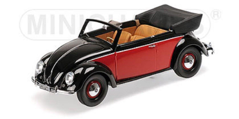 El ultimo 2018 1 18 VW VW VW 1200 cabriolet 1949 rojo negro Minichamps 107054132 OVP New  barato