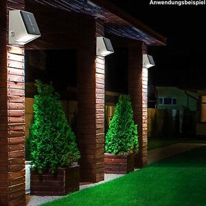 2x led edelstahl lampen solar leuchten haus wand strahler. Black Bedroom Furniture Sets. Home Design Ideas
