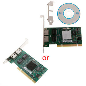 Details about PCI Dual RJ45 Port Gigabit Ethernet Lan Network Card  10/100/1000Mbps Intel 82546