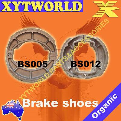 Front Rear Brake Shoes Suzuki TS125 TS 125 1973-1981 84