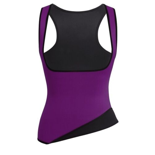 Details about  /US Sauna Suit Effect Abdominal Waist Trainer Plus Size Hot Body Shapers Vest