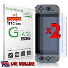 Nintendo Switch Tempered Glass Screen Film Protector Guard HD Crystal 2 PACK