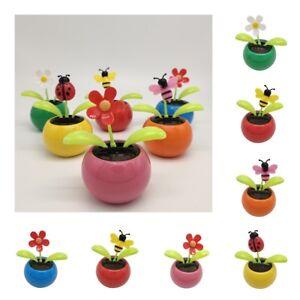 Swing-Sunflower-Dancing-Toy-Solar-Powered-Flower-Plants-Pot-Car-Decor