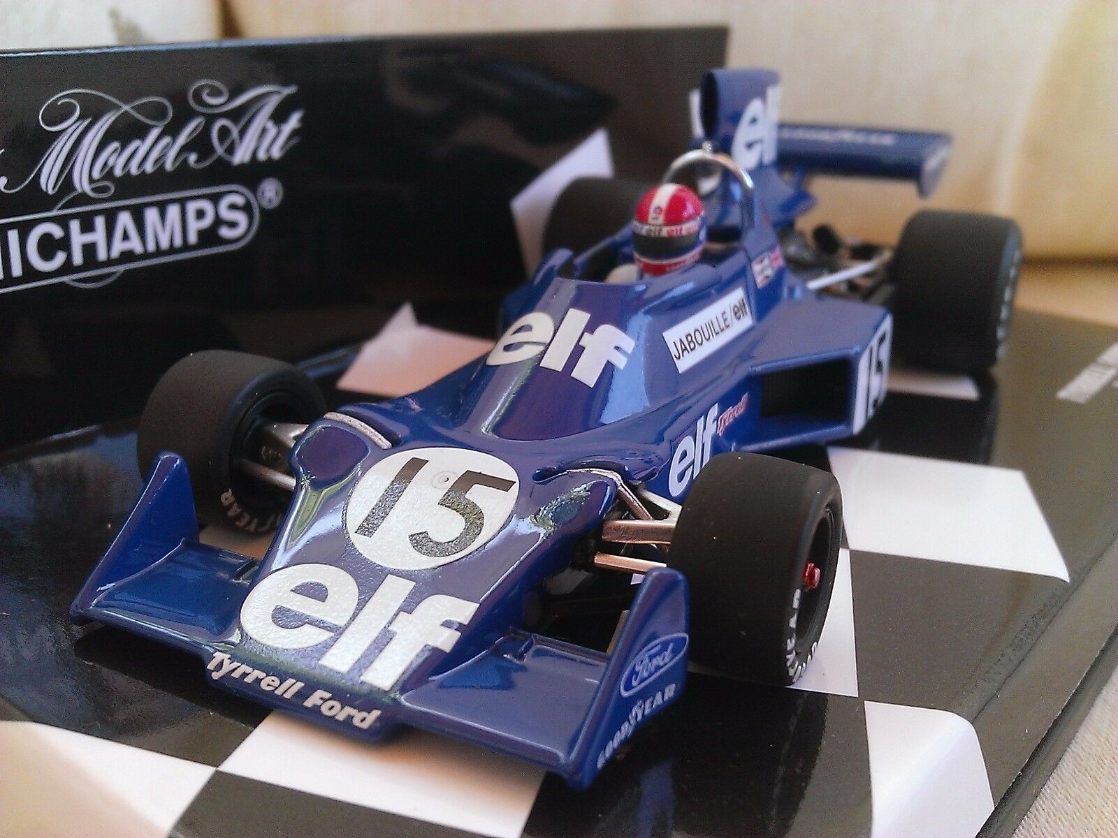 Tyrrell Ford 007 Jabouille 1975 Diecast Model F1 Car 1 43 Minichamps