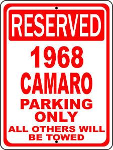 "1968 68 Ford Mustang Novelty No Parking Aluminum Street Sign 12/""X18/"""